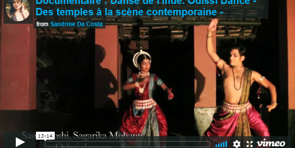Beautiful documentary on Odissi Dance sent to us by Sandrine Da Costa from France