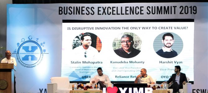 "Day 3 of Business Excellence Summit, XIMB began with a panel discussion on the theme ""Is Disruptive Innovation the only way to create value?"""