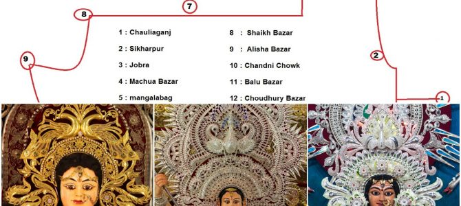 All you need to know for Route details on visiting Cuttack Durga Puja Mandaps and their locations : awesome blog by Ashwas Priyadarshan
