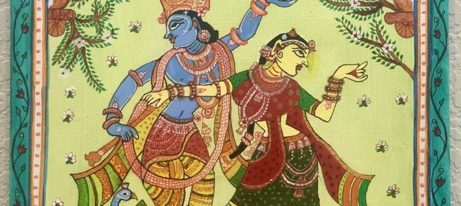 This is how Pattachitra paintings are made.